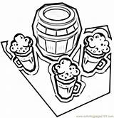 Beer Coloring German Pages Germany Coloringpages101 sketch template