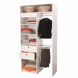Solution Dressing Pas Cher : graine kit dressing extensible blanc achat vente ~ Premium-room.com Idées de Décoration