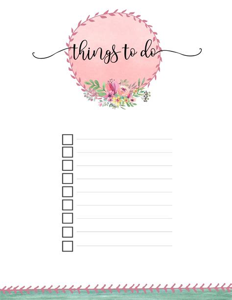 to do template free printable to do list templates calendar 2018