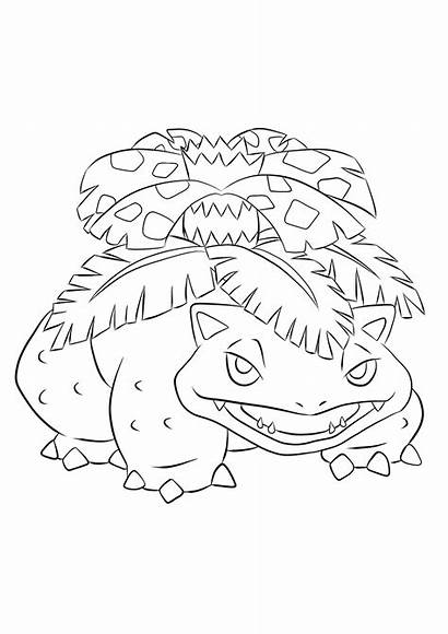 Pokemon Venusaur Coloring Pages Generation Grass Type