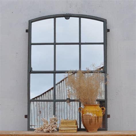 vintage metal factory window mirror home barn vintage