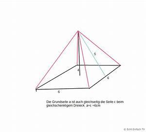 Höhe Von Pyramide Berechnen : quadratische pyramide seitenl nge 6 cm h he 4 cm oberfl che mathelounge ~ Themetempest.com Abrechnung