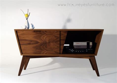 vintage media console crafted bad larry walnut media console by foureyes 3245