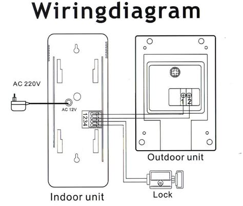 door entry phone wiring diagram wiring diagram and