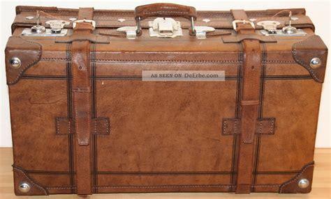 Alter Lederkoffer, Nostalgiekoffer, Vintage Mit Schlüssel