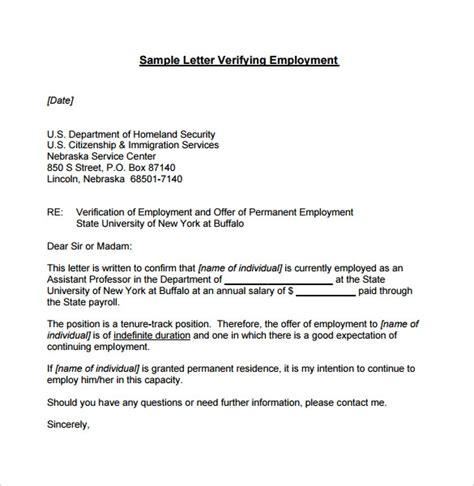 employment verification letter   documents