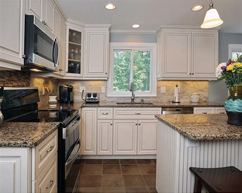 most popular kitchen appliance color cambria canterbury white cabinets backsplash ideas 9305