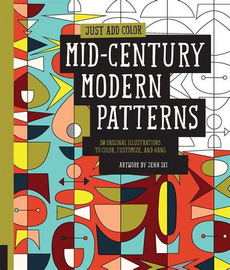 just add color mid century modern patterns art by