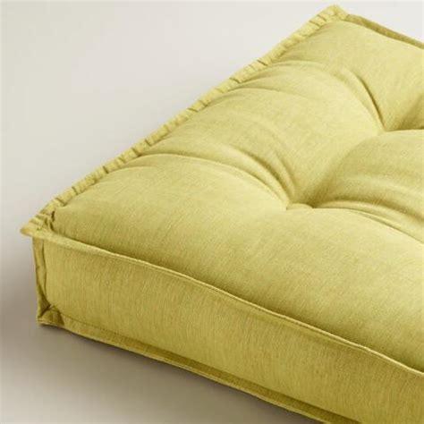 world market floor pillows green khadi tufted floor cushion world market