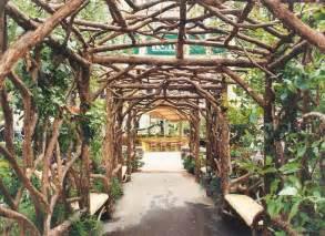 Rustic Twig Wood Garden Arbors