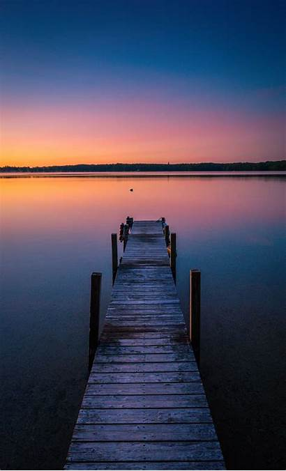 Dock Wooden Brown Morning Early Coffee