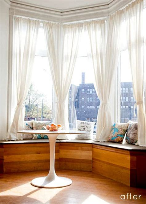 25 best ideas about bay window curtains on