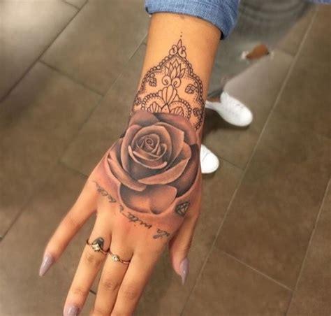 hand tattoo rose tattoos  piercings tattoos hand