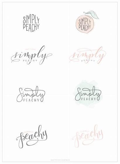 Peachy Simply Logos Branding Business Dots Cursive