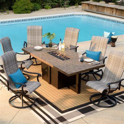 belham living denton 84 in patio dining table jet