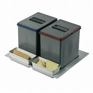 Poubelle Tri Selectif 2 Bacs : poubelles de tri s lectif sous vier 2 bacs de 15 litres ~ Dailycaller-alerts.com Idées de Décoration