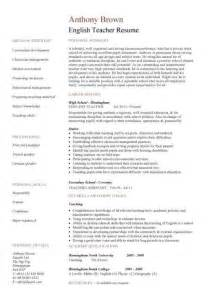 resume model for teachers pdf resume template cv exles teaching academic school tutor description