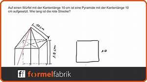 Pythagoras Berechnen : pythagoras pyramide auf w rfel raumdiagonale berechnen ~ Themetempest.com Abrechnung