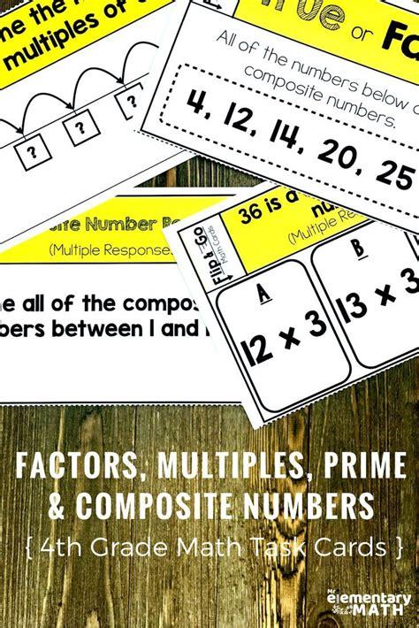 214 Best Images About Teaching Factors & Multiples On Pinterest