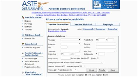 Asta Giudiziaria Pisa Beni Mobili by Comprare Casa Gli Strumenti Web Per Le Aste Immobiliari