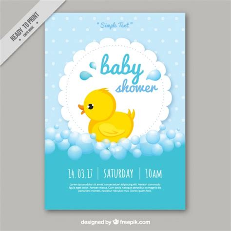Baby Shower Card Templates The Image Baby Shower Card Template Vector Free