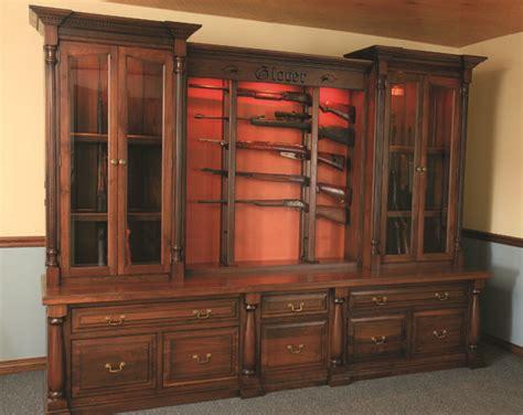 built in gun cabinet custom gun cabinets gunsafe amish custom gun cabinets