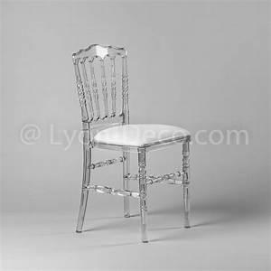 But Chaise Transparente : location chaise napoleon 3 cristal avec assise simili cuir ~ Teatrodelosmanantiales.com Idées de Décoration