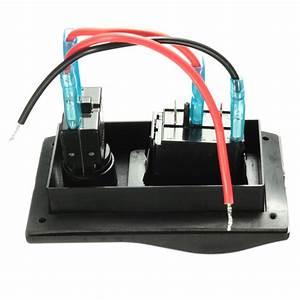 12v Dual Led Rocker Bilge Pump Switch Panel Circuit
