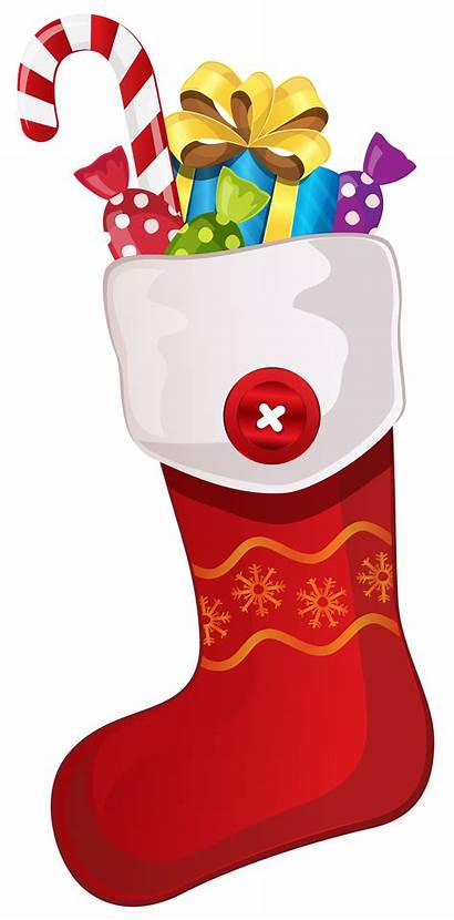 Stocking Candy Cane Christmas Clipart Clip Stockings