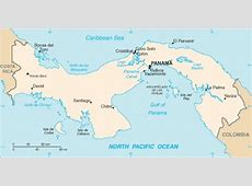 Map of Panama Terrain, area and outline maps of Panama
