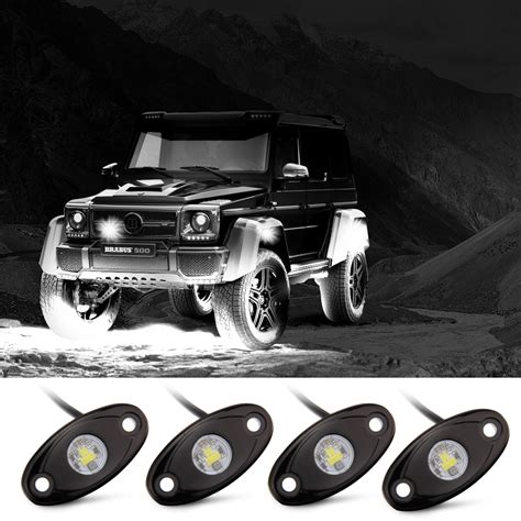 jeep road lights rock lights road lights with 4 pods cree led and