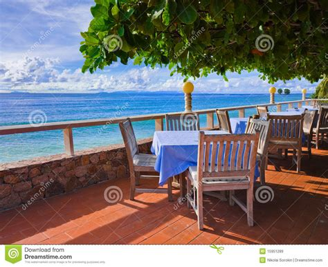 cafe  tropical beach royalty  stock images image