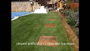 diseño de jardines con césped artificial YouTube