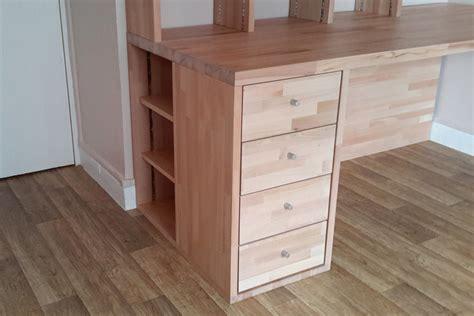 meuble de bureau sur mesure fabrication bibliothèque et bureau d 39 angle sur mesure en bois