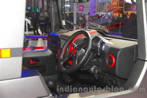 mahindra thar 2017 interior mahindra thar custom interior at auto expo 2016 indian