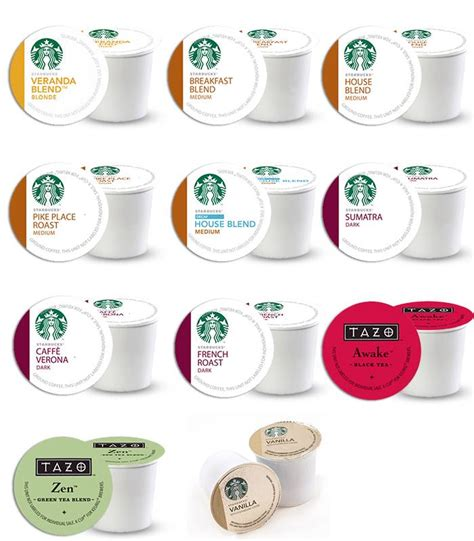 Starbucks Coffee Tea K Cups Pick yr Own Flavors Count 4 24 Sampler Keurig   eBay