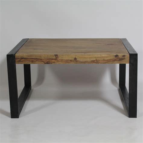 table cuisine industrielle table basse industrielle carrée en bois de palissandre