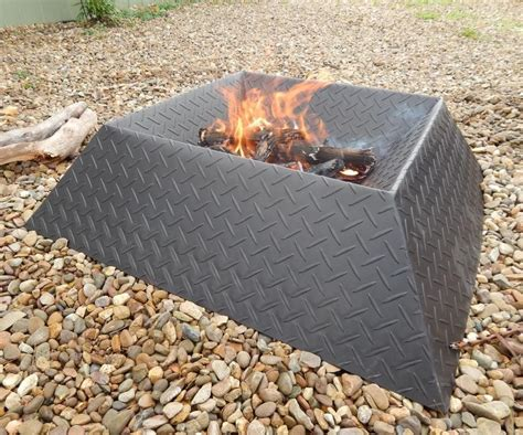 How To Make A Cool And Compact Fire Pit From Half A Sheet