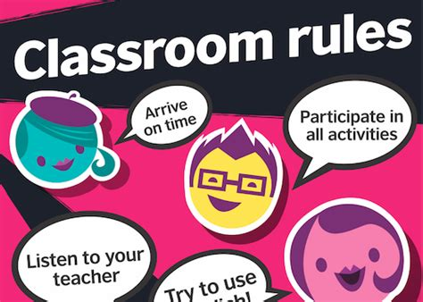 teens classroom rules posters funky pink