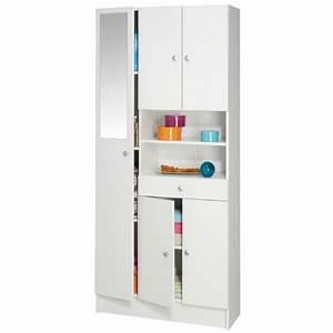Meuble Rangement Salle De Bain Pas Cher : imbattable armoire de salle de bain 82 cm blanc achat ~ Dailycaller-alerts.com Idées de Décoration