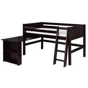twin low loft bed with retractable desk wayfair