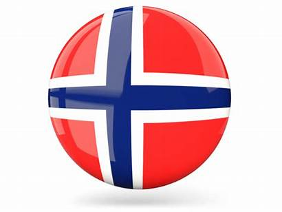 Norway Round Icon Glossy Flag Mayen Jan