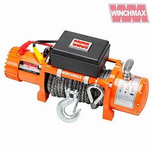 Electric Winch 13500lb 24v Synthetic Rope Winchmax 4x4