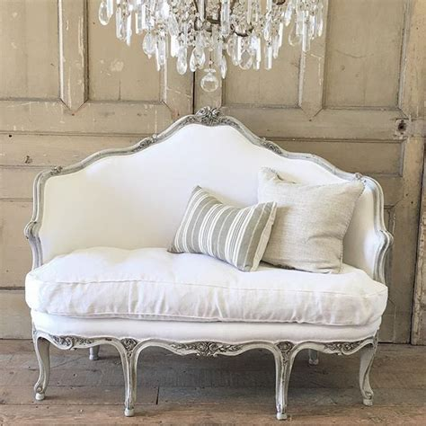 Spell Settee by Carved Settee In Dove Grey With Belgian