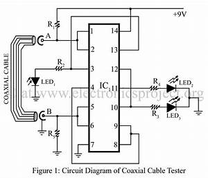 gt meter counter gt checker circuits gt co axial cable tester With multi led version of the circuit with three leds and various resistors
