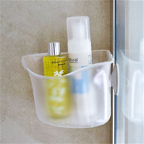 simplehuman corner shower caddy in toiletry holders at