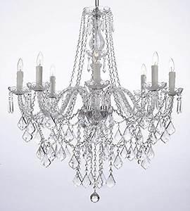 Crystal chandelier lighting ht wd lights fixture