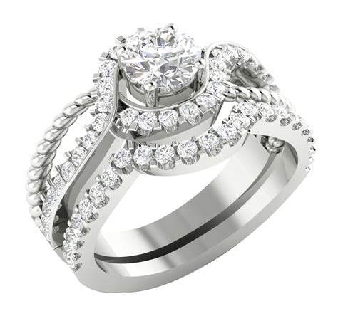 14k white gold si1 g 1 75tcw real unique bridal