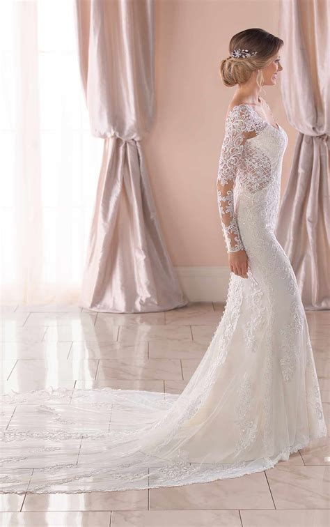 Long Sleeved Wedding Dress With Open Back Stella York