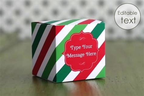 printable gift boxes personalize  print  home